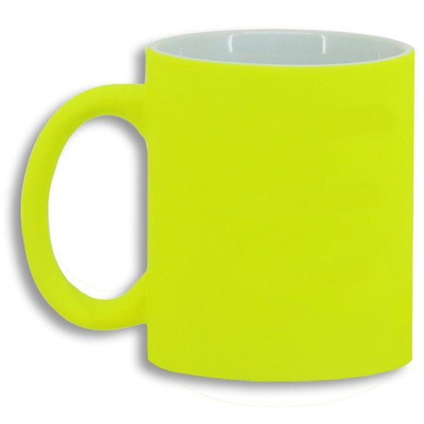 Taza Color Amarillo Flúor