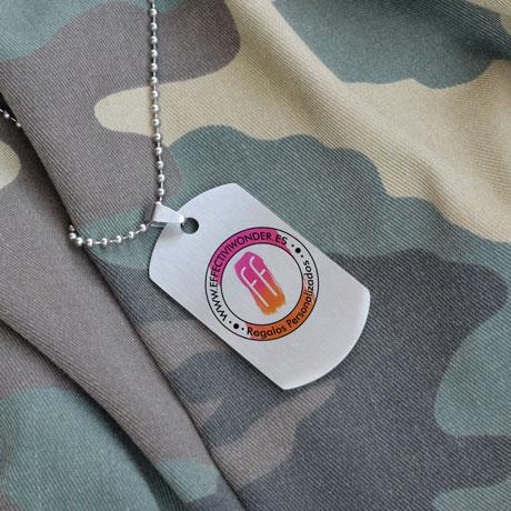 Chapa Militar Personalizable