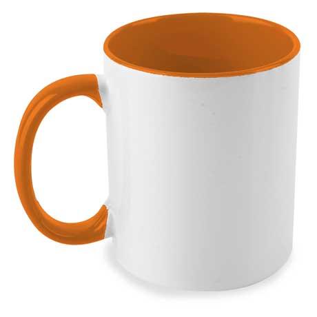 Taza Bicolor Naranja