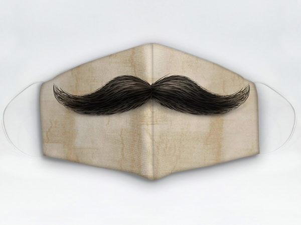 Mascarilla diseño bigote