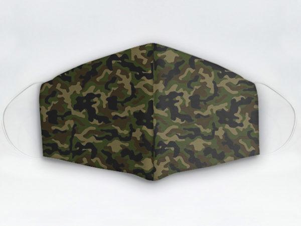Mascarilla cubrebocas diseño camuflaje