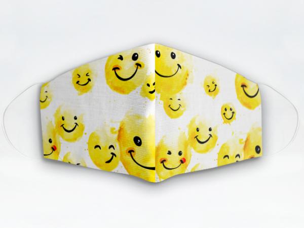 Mascarilla Cubrebocas diseño Emoji