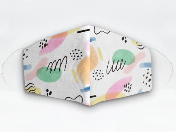 Mascarilla Cubrebocas diseño Manchas