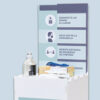 Detalle totem higiénico comercios