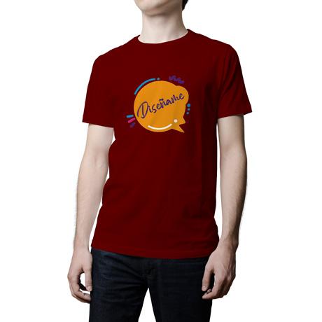 Camiseta Básica Granate