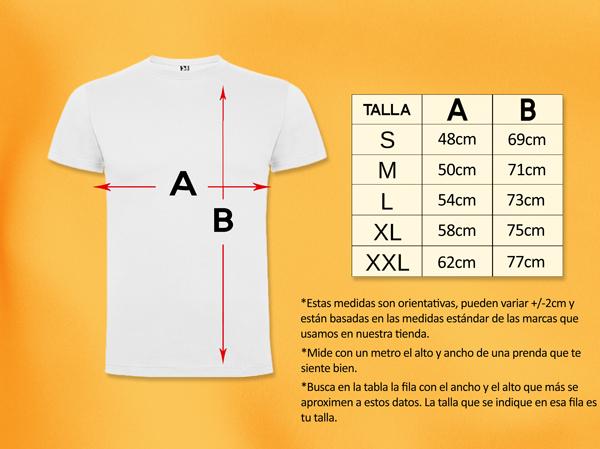 Tabla tallas camisetas