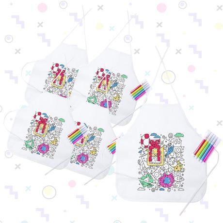 Pack 5 delantal rotulador
