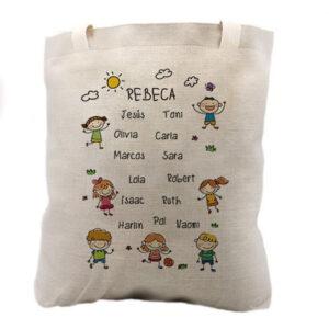 Tote Bag Personalizada con nombres