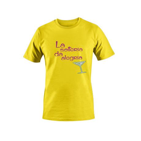 Camiseta la soltería amarillo