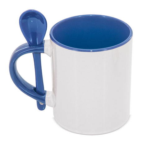 Taza Cuchara Azul